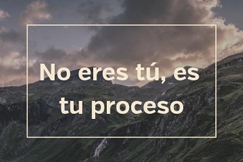 No eres tú, es tu proceso.